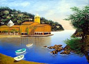 Italian Mediterranean Art Paintings - Portofino Pleasures by Larry Cirigliano