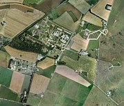 Secretive Birds Posters - Porton Down, Aerial Photograph Poster by Getmapping Plc