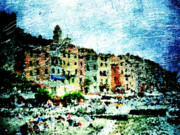 Mediterranean Landscape Digital Art Framed Prints - Portovenere Framed Print by Andrea Barbieri