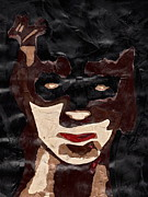 Bat Mixed Media Originals - Portrait 2 by Bethany Compson-Bradford