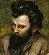 Looking Down Metal Prints - Portrait de Claude Terrasse French composer of operettas Metal Print by Pierre Auguste Renoir