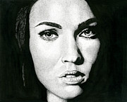 Megan Fox Posters - Portrait  Poster by Ian Tullock