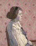1876 Paintings - Portrait in Profile by Harold Gilman