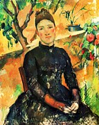 Still Life With Pitcher Art - Portrait Madame Cezanne by Pg Reproductions