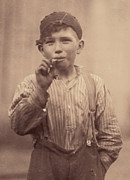 Suspenders Posters - Portrait Of A Boy Smoking, Original Poster by Everett