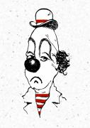 Emotional Drawings - Portrait Of A Clown by Mimo Krouzian