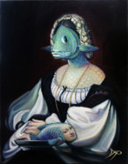 Mask Paintings - Portrait of a Gentlefisher by Patrick Anthony Pierson