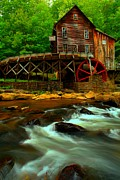 Grist Mill Posters - Portrait Of A Grist Mill Poster by Adam Jewell