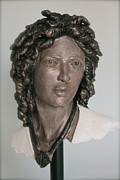 Portraits Sculpture Prints - Portrait of a Lady Print by Wayne Headley