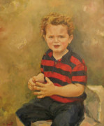 Little Boy Paintings - Portrait of a little boy by Tigran Ghulyan