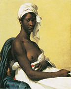African Art Painting Posters - Portrait of a Negress Poster by Marie-Guillemine Benoist