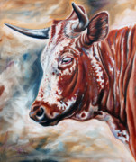 Portrait Of A Nguni Print by Ilse Kleyn