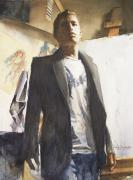 Watercolor Jewelry Originals - Portrait of a Prodigy by Douglas Trowbridge