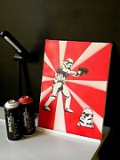 Movie Star Photo Originals - Portrait of a Stormtrooper - Street Art by Victor Cavalera