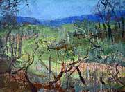 Plain Air Paintings - Portrait of a vineyard by Rosalia  Tignini Verdun