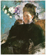 Portrait Of A Woman Posters - Portrait of a Woman Poster by Edgar Degas