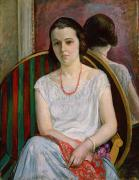 Portrait Of Woman Metal Prints - Portrait of a Woman Metal Print by Henri Lebasque
