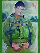 Full-length Portrait Painting Prints - Portrait of a Young Man Soldier in Uniform Combat - War is Too Costly on Teen and Dear Life to Waste Print by Exclusive Canvas Art