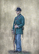 Battle Of Gettysburg Digital Art Posters - Portrait of a Young Soldier of Berdans Sharpshooters Poster by Randy Steele