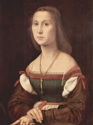 Raphael Prints - Portrait of a Young Woman aka La Muta - 1507 Print by Raphael