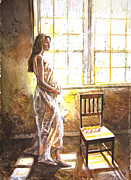 Pregnancy Originals - Portrait of a Young Woman by Patricia Allingham Carlson