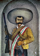 Mexican Revolution Framed Prints - Portrait Of A Zapatista Framed Print by Granger