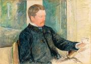 Sat Paintings - Portrait of Alexander J. Cassatt by Mary Stevenson Cassatt