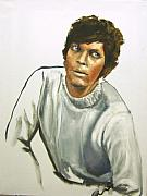 Sweater Painting Originals - Portrait of an Actor by Jim Horton