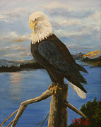 American Eagle Paintings - Portrait of an American by Ruth Ann Murdock