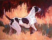 Dogs Painting Metal Prints - Portrait of Atticus Metal Print by Susan F Greaves