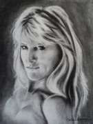 Self Portrait Drawings - Portrait of  Carla by Carla Carson