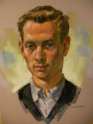 College Pastels - Portrait of college student by Charles Vernon Moran