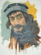 Barcelona Painting Originals - Portrait of Corvus by Paez De Pruna