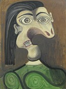Mourlot Paintings - Portrait of Dora Maar by Pablo Picasso