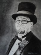 Charcoal Portrait Posters - Portrait of Douglas Poster by Carla Carson