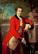 Soldier Paintings - Portrait of Edmund Rolfe by Pompeo Girolamo Batoni
