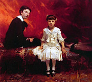Sargent Framed Prints - Portrait of Edouard and Marie-Louise Pailleron Framed Print by Stefan Kuhn
