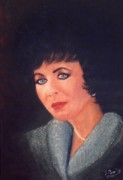 Movies Photo Originals - Portrait of Elizabeth Taylor by Liam O Conaire