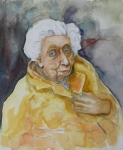 Writer Drawings Metal Prints - Portrait of Eudora Welty   Metal Print by Dan Earle