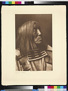 Lone Tree Framed Prints - Portrait Of Famous Warrior, Lone Framed Print by Edward S. Curtis