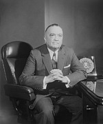 Fbi Posters - Portrait Of Fbi Director J. Edgar Poster by Everett