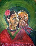 Diego Rivera Originals - Portrait of Frida and Diego by Ruth Olivar Millan
