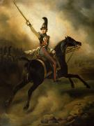 Cavalry Uniform Posters - Portrait of Friedrich Heinrich Poster by Emile Jean Horace Vernet