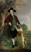 Portraits Of Pets Framed Prints - Portrait of George Venables Vernon Framed Print by Thomas Gainsborough
