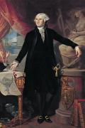 Statue Portrait Painting Prints - Portrait of George Washington Print by Joes Perovani