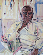 Hari Thomas Paintings - Portrait of Hari Thomas by Smael Laurent