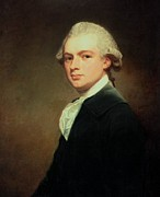 Wig Paintings - Portrait of Henry Russell by George Romney