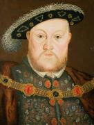 British Portraits Metal Prints - Portrait of Henry VIII Metal Print by English School