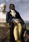 Statue Portrait Paintings - Portrait of Jean-Baptiste Belley by Anne Louis Girodet de Roucy-Trioson