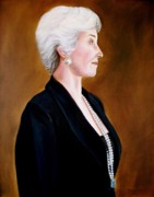 Arkansas Paintings - Portrait of Joan Zumalt in profile by RB McGrath